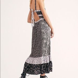 Free People Yesica black floral maxi dress